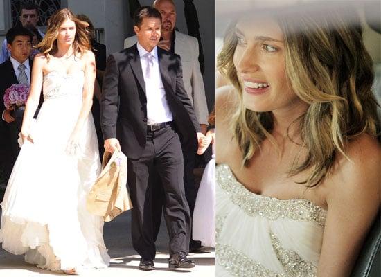 Photos Of Mark Wahlberg and Rhea Durham On Their Wedding Day, Rhea In Her Marchesa Wedding Dress
