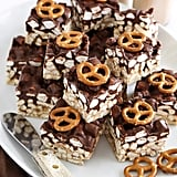 Salty Peanut Butter Marshmallow Pretzel Treats