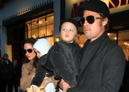 Brad Pitt and Angelina Jolie were spotted out with the twins in New York City on Saturday night (December 4).