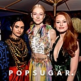 Camila Mendes, Hunter Schafer, and Madelaine Petsch at the Vanity Fair Oscars Party 2020