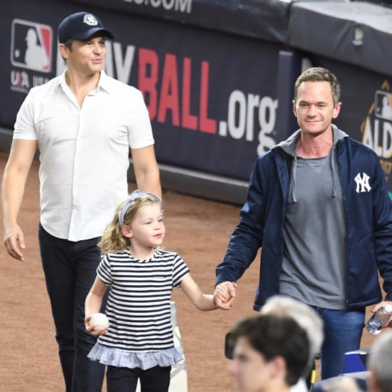 Neil Patrick Harris and His Family at NY Yankees Game 2017