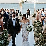 For Her Big Day, Shanina Wore a Sheer Ralph & Russo Gown