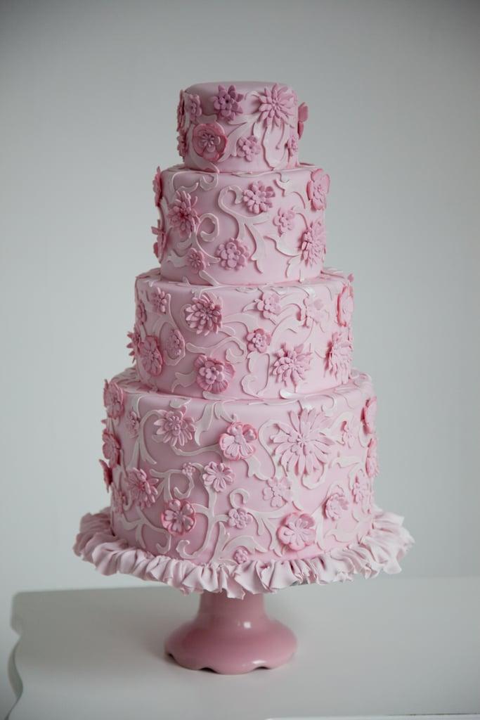 Monochromatic Floral Cake