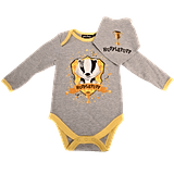 Hufflepuff House Baby Grow and Bib