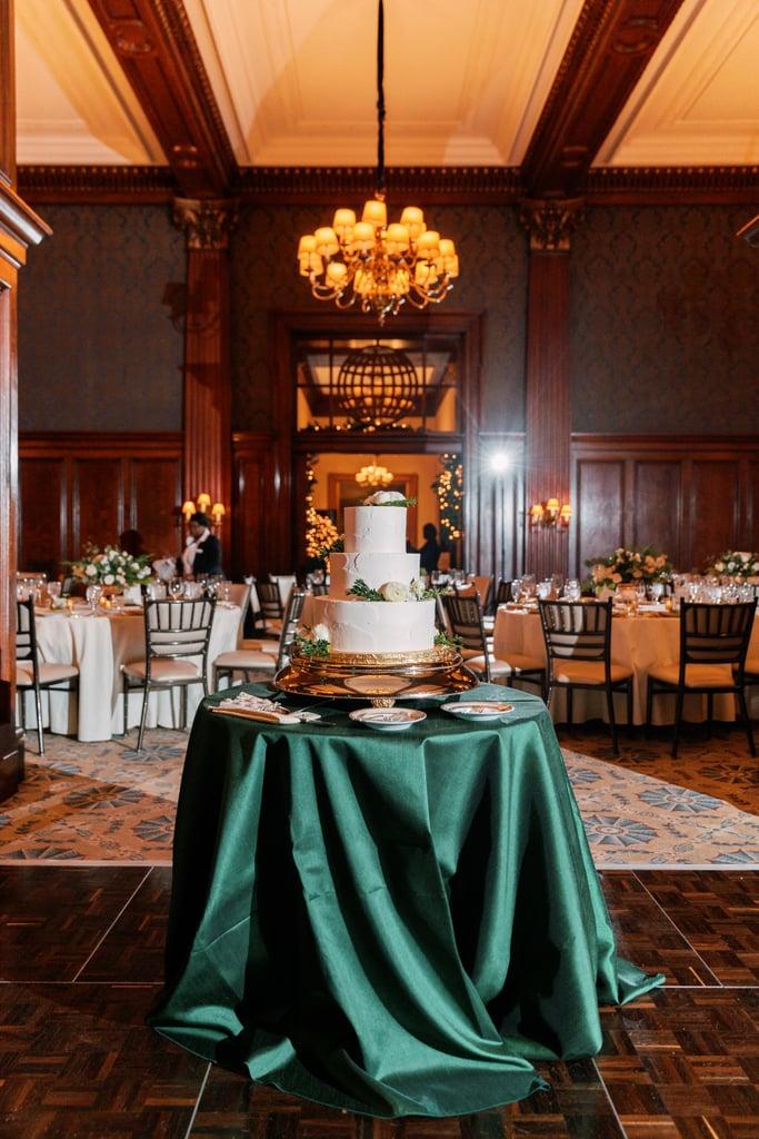 Green Satin Tablecloth