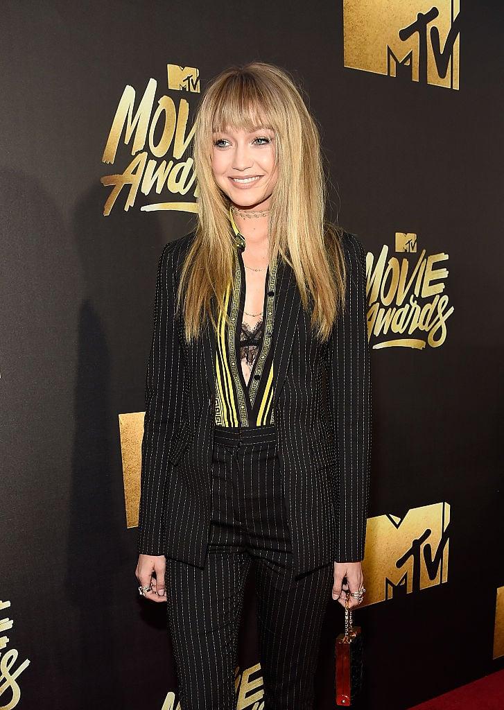 Gigi Hadid Bangs MTV Movie Awards