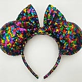 Main Street Electrical Parade Multicolor Rainbow Confetti Ears ($30)