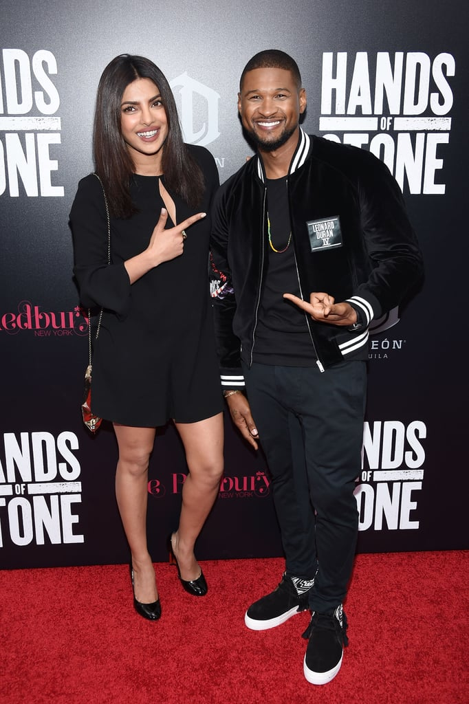 Priyanka Chopra Attended the Hands of Stone Premiere to Support Usher