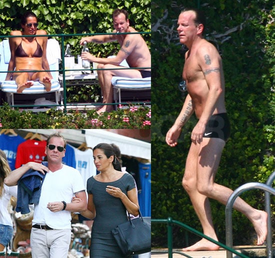 Shirtless Kiefer Sutherland Pictures With Bikini Clad Girlfriend Siobhan Bonnouvrier