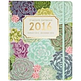 2015-2016 Paper Source Succulents Gold Foil Hidden Spiral Planner
