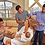 Gisele Bündchen proved that she can breastfeed and get a fabulous blowout, too. Source: Instagram user giseleofficial