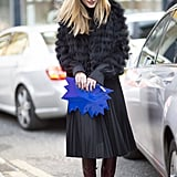 Add a Bright Accessory to Your All-Black Look