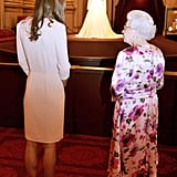 "The Queen: ""That's Right, Don't Stand Much Closer, Dear."""