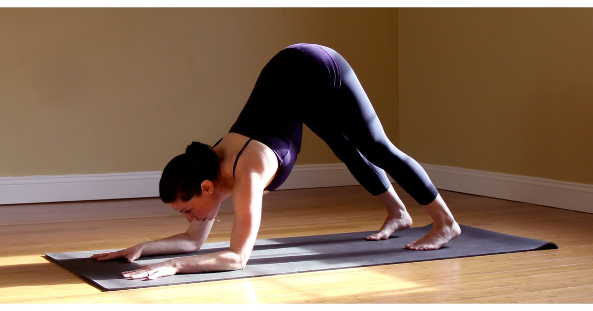 Downward Dog Push Up Popsugar Fitness