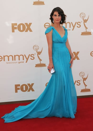 Pictures of Celebrities in Blue Dresses on the red carpet the 2011 Emmy Awards: Katie Holmes, Dianna Agron and more!