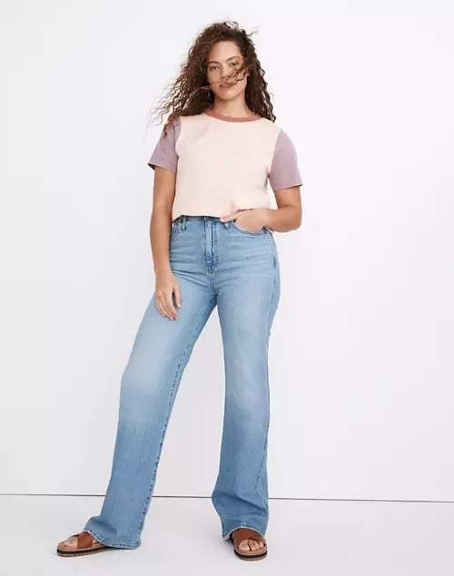 """Madewell 11"""" High-Rise Flare Jeans in Conwell Wash"""