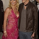 Britney Spears and Justin Timberlake at the 2002 American Music Awards