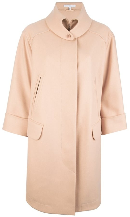Carven was mostly responsible for this trend, showing a series of oversize pink coats on the catwalk for Autumn/Winter 2013. Get the real deal with this powder pink number (£570).