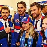 Chris and Liam Hemsworth at AFL Grand Final October 2016