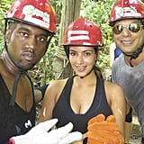 Kim and Kanye went zip-lining with Joe Francis.  Source: Casa Aramara
