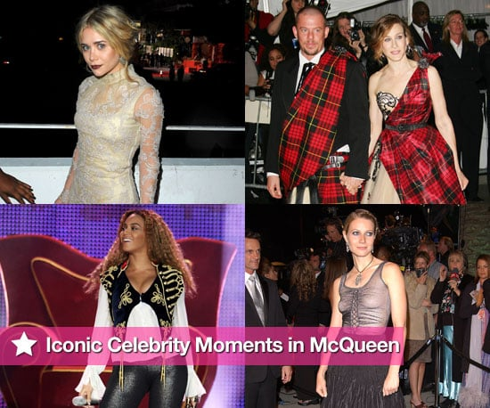 Remembering Alexander McQueen and the celebrities he dressed including Sarah Jessica Parker, Lady Gaga, Beyonce