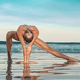 Naked Yoga on the Beach