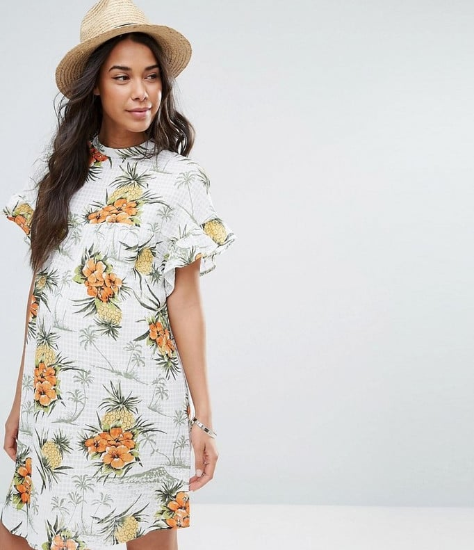 dafc077e004c9 Smock Dress in Vintage Tropical Print   Best ASOS Maternity Clothes ...