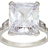 Grace Kelly Collection Simulated Emerald Cut Diamond Ring