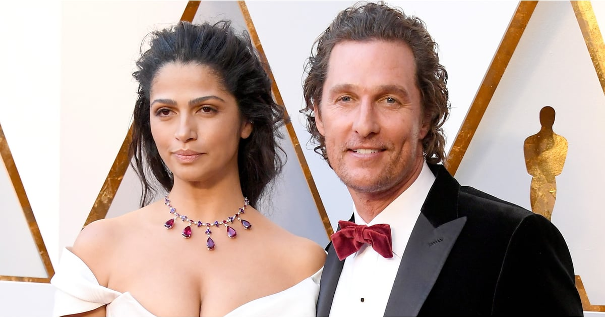matthew mcconaughey and camila alves at the 2018 oscars popsugar celebrity australia. Black Bedroom Furniture Sets. Home Design Ideas
