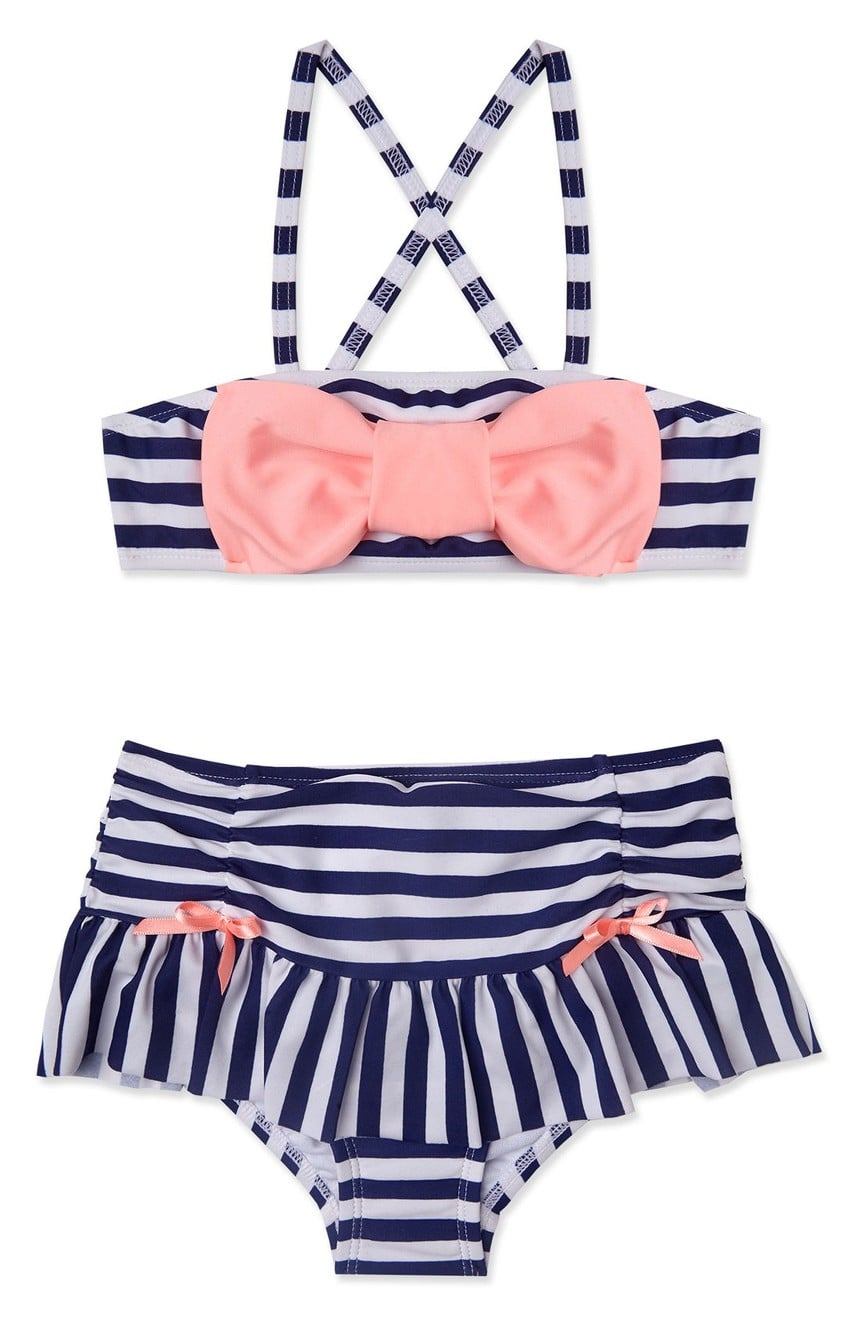 Liquor Children Kids Girls Summer Swimwear Swimsuit Lovely Split Bow Bikini A Set