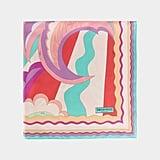 Emilio Pucci Acapulco Print Silk Square Scarf ($445)