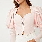 Georgia Keburia Pink Button Blouse ($590)