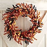 Pier 1 Imports Orange Berry Halloween Wreath