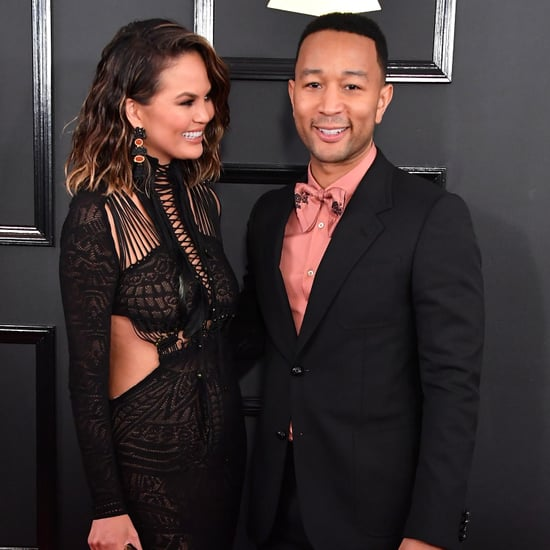 Chrissy Teigen and John Legend at the 2017 Grammys