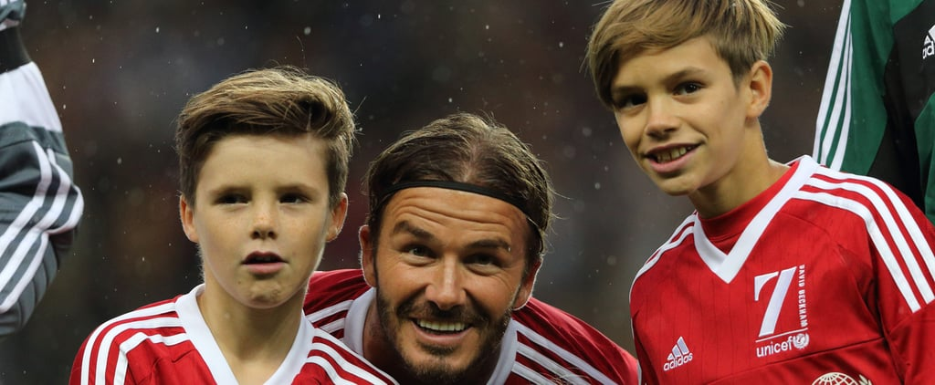The Beckham Family Steps Out to Support Their Famous Dad on the Field