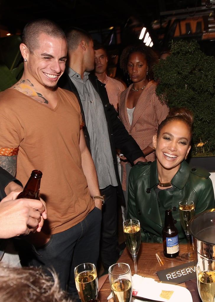 Jennifer Lopez and Casper Smart partied with friends.