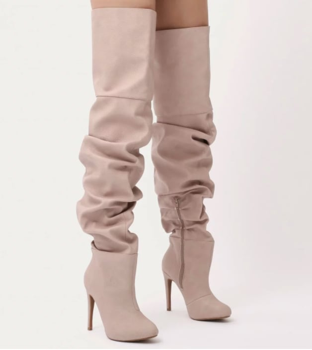 84d269671705 Public Desire Ciara Over the Knee Slouch Boots (£54.99) | Kendall ...