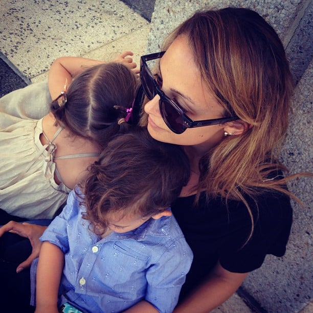 "Joel Madden shared a sweet picture of Nicole Richie and their kids, Harlow and Sparrow, calling them the ""center of my universe."" Source: Instagram user joelmadden"