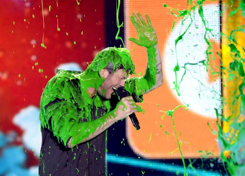 The Kids' Choice Awards took over The Forum in LA on Saturday evening, and with them brought loads of fun — and slime! There were many exciting moments throughout the show, from Zendaya's inspiring acceptance speech and host Blake Shelton's Star Wars-themed opening skit to all the famous kids who attended the show. So, without further ado, let's look back at the best pictures from the star-studded evening, and then check out Wiz Khalifa and Charlie Puth's amazing performance.