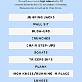 photo regarding Printable Workouts at Home identified as Printable Excess weight Routines POPSUGAR Health