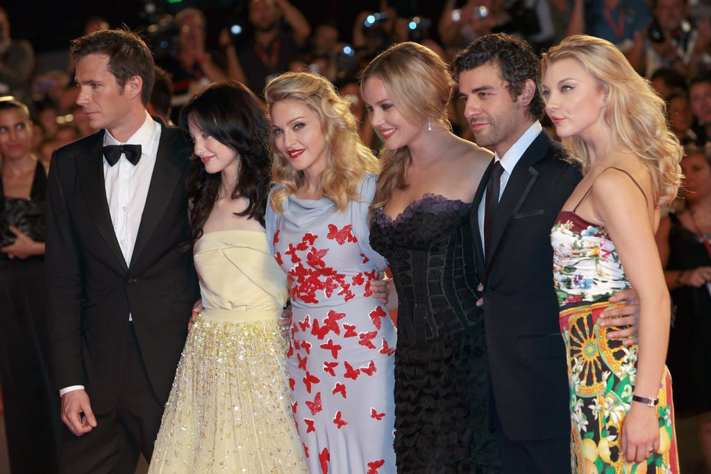 Madonna posed with her cast.