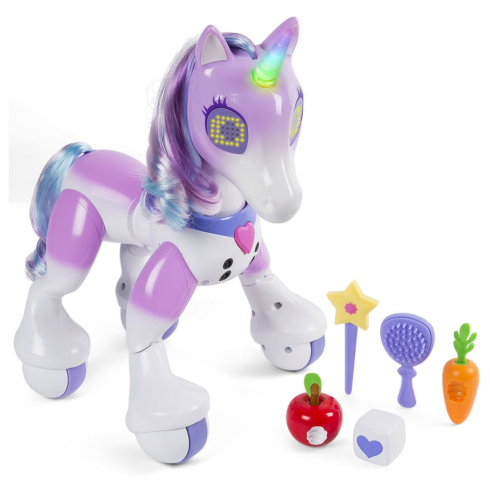 Toys For Under 1 : Zoomer enchanted unicorn interactive toy gifts for kids