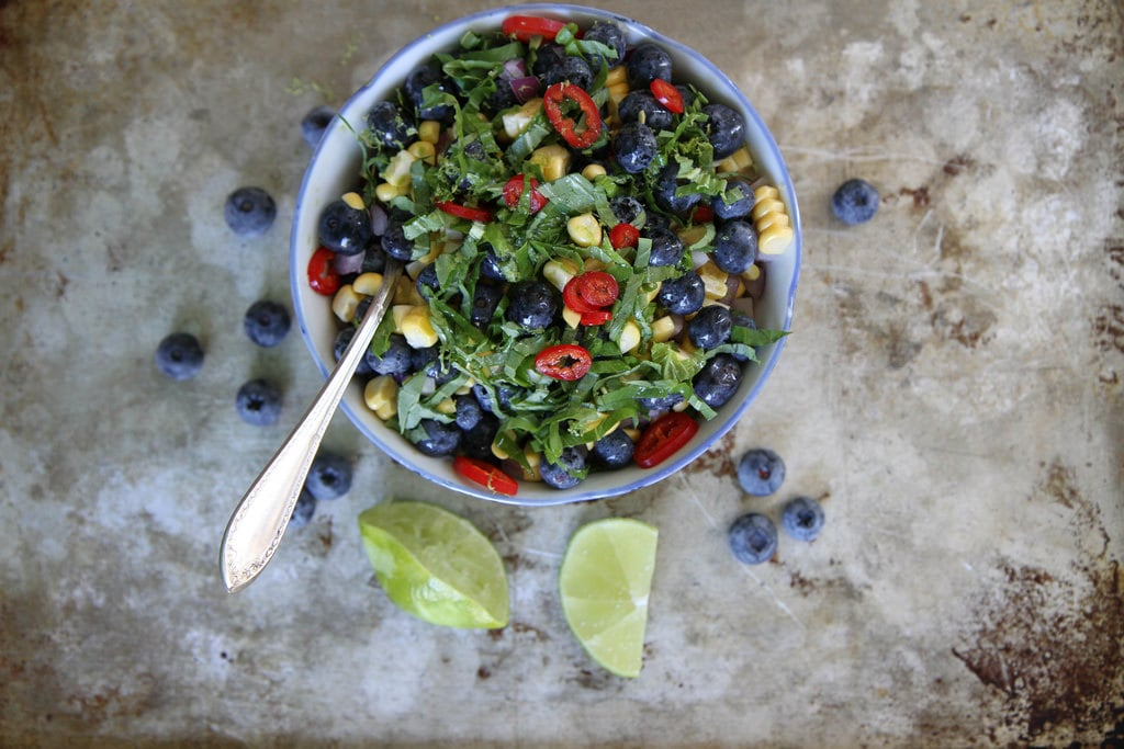 Blueberry Corn and Basil Salsa