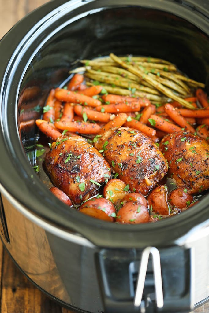 Slow Cooker Honey Garlic Chicken And Vegetables Slow