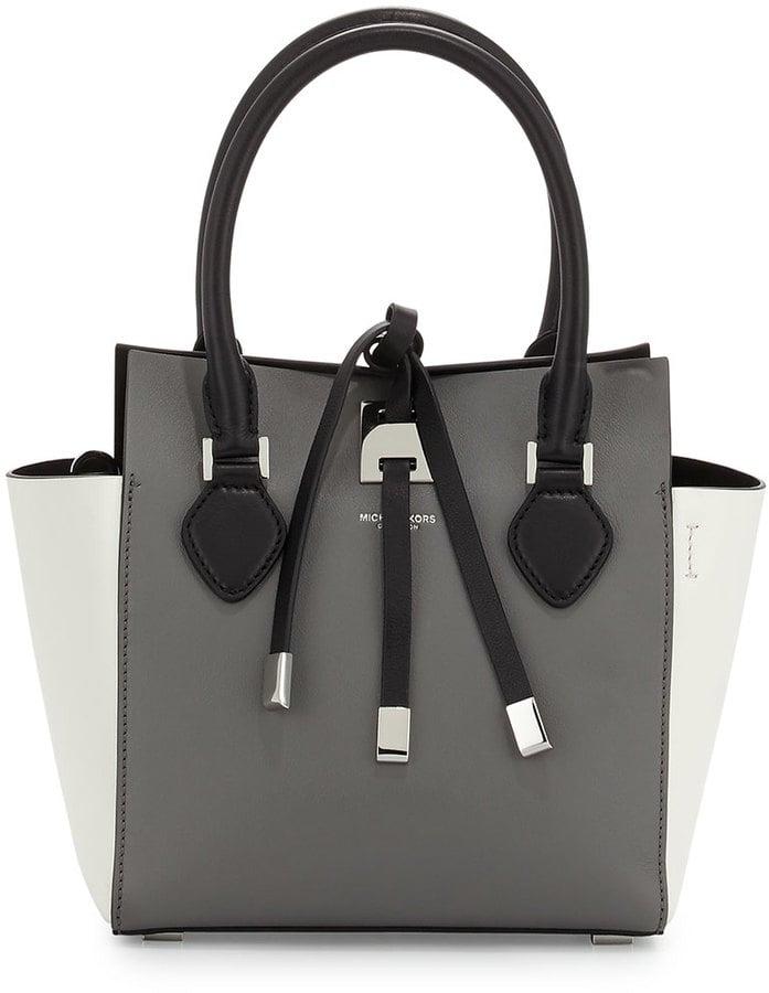 Michael Kors Miranda Extra-Small Colorblock Tote Bag, Slate ($795)