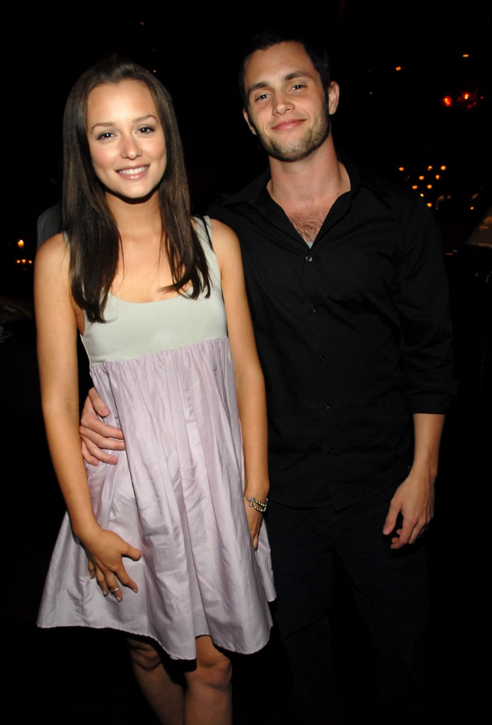 Pals Leighton Meester and Penn Badgley shared a photo at a CW party in May 2007.