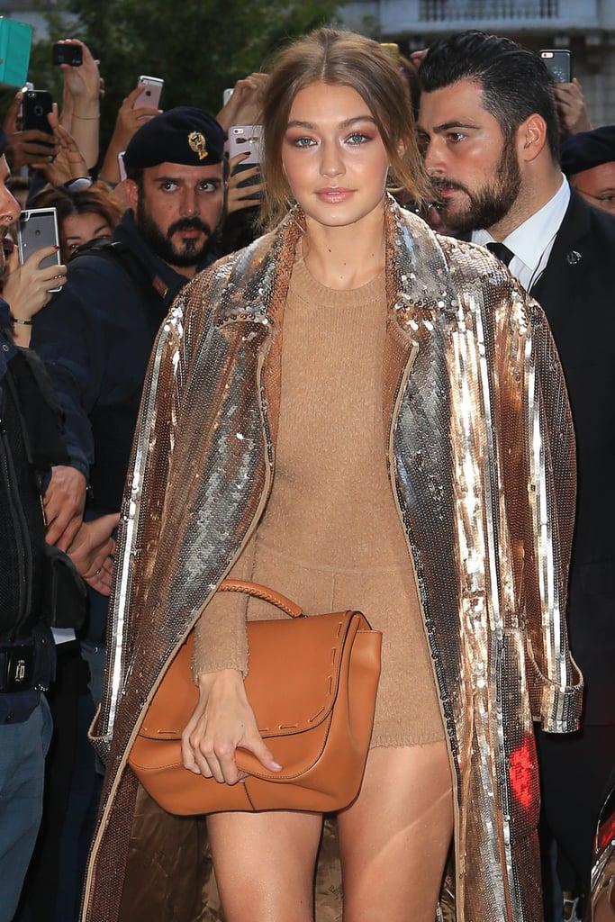 Gigi Hadid Wears a Leotard at Milan Fashion Week
