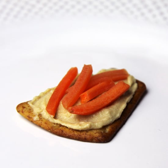 Hummus With Shredded Carrots