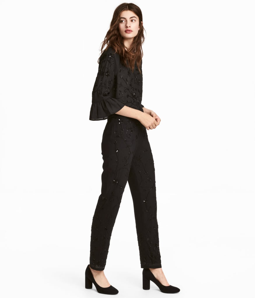 H&M Beaded Blouse and Pants Set