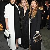 She Matched With Sisters Mary-Kate and Ashley, Who Also Wore Long Coats